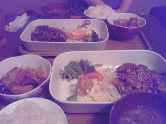 平井食堂の夜定食の写真