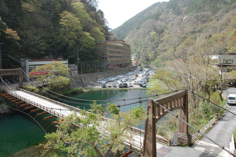 八景から見た旭川の写真
