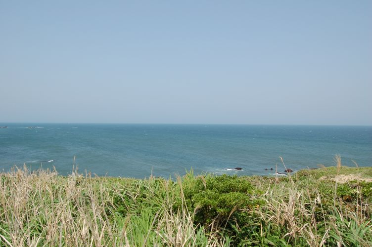 犬吠埼から水平線を望む写真